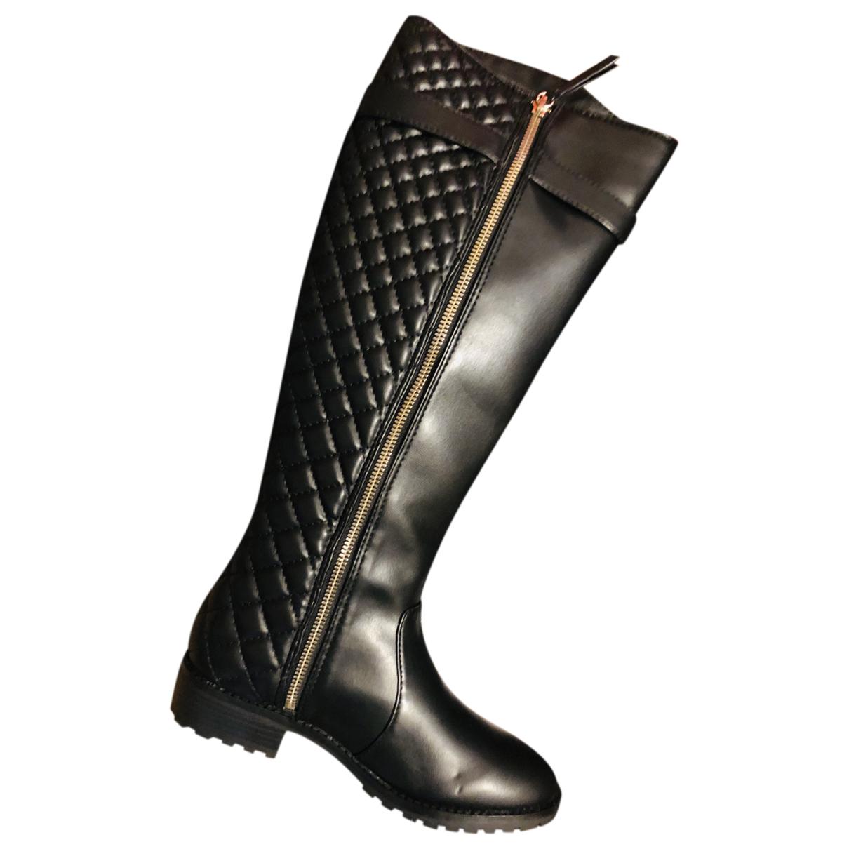 Zara \N Stiefel in  Schwarz Kunststoff