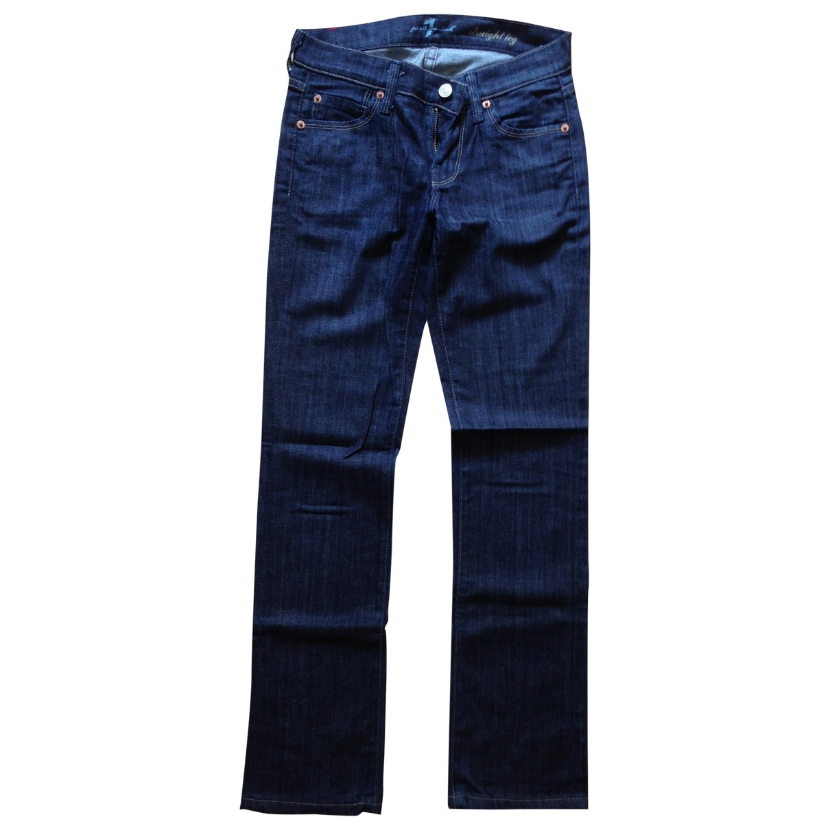 7 For All Mankind \N Blue Cotton Jeans for Women 24 US