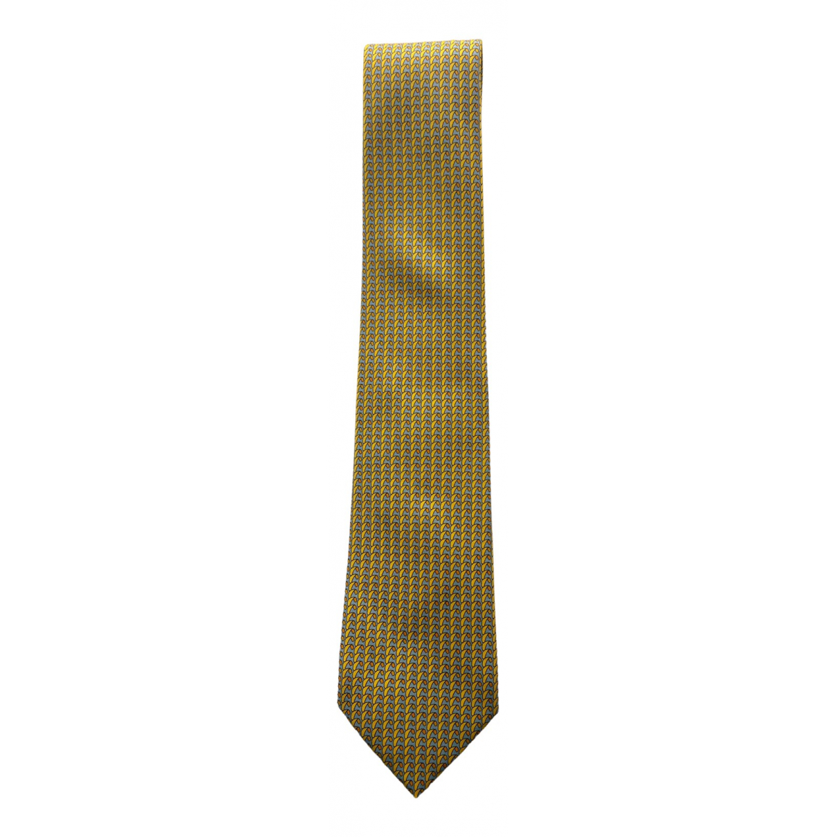 Hermes \N Krawatten in  Gelb Seide