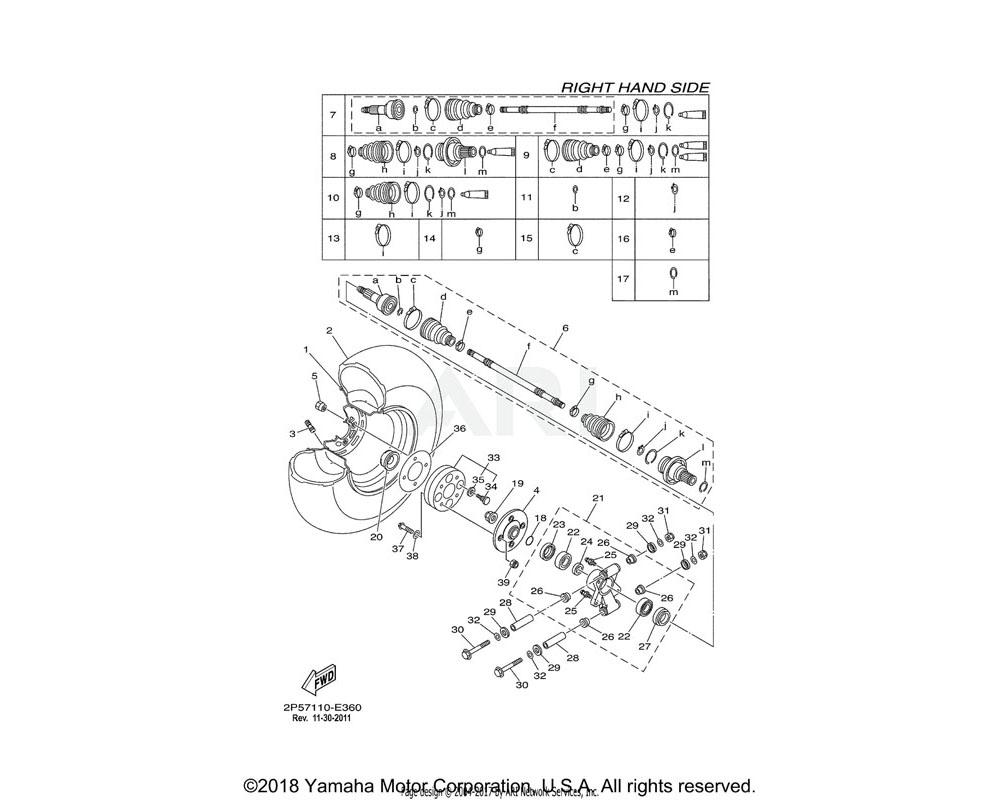Yamaha OEM 2P5-F512A-00-00 CAP, WHEEL
