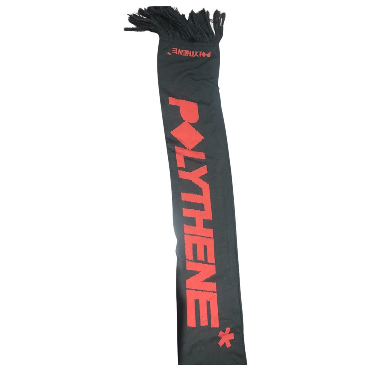 Polythene* Optics N Black Wool scarf & pocket squares for Men N