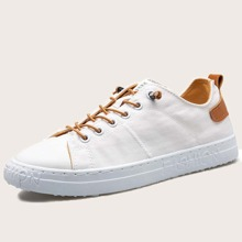 Men Lace-up Front Canvas Shoes