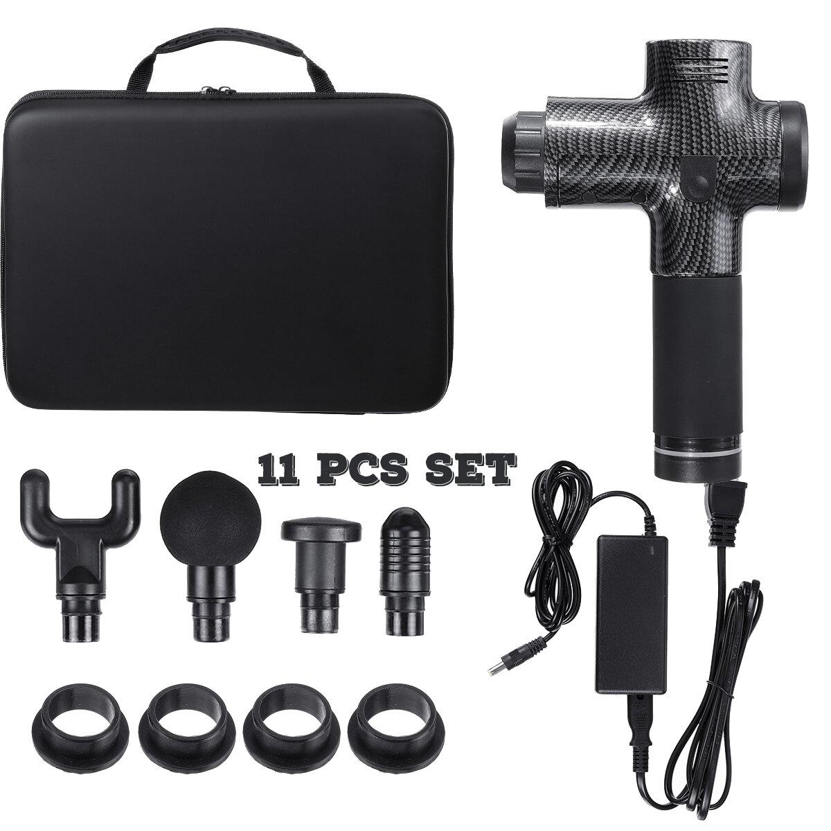 16.8V 2500mAh Massage Gun 4 Head 3 Speed Electric Massager Quiet Technology Professional Deep Tissue Massager