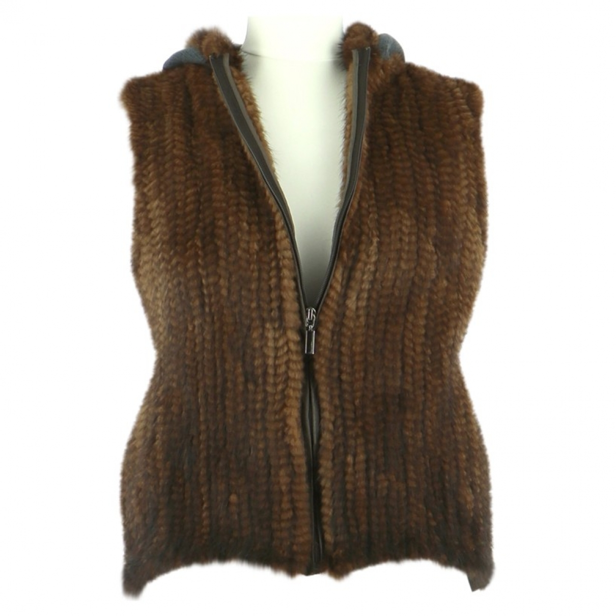 Max & Moi \N Brown Fur jacket for Women 36 FR