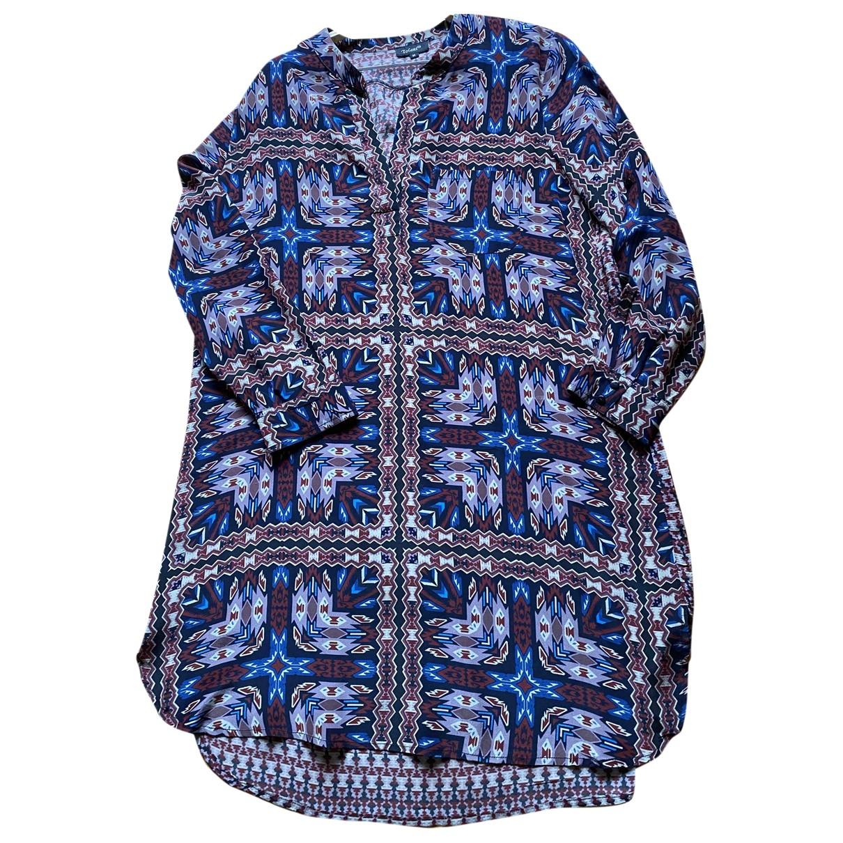 Tolani - Robe   pour femme en soie - multicolore