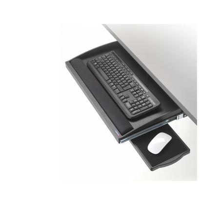 Exponent@ Tiroir clavier noir underdesk, Avec repose poignet - Avec plateau souris 751321