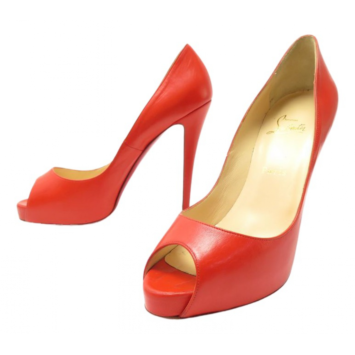 Christian Louboutin \N Red Leather Sandals for Women 36 EU