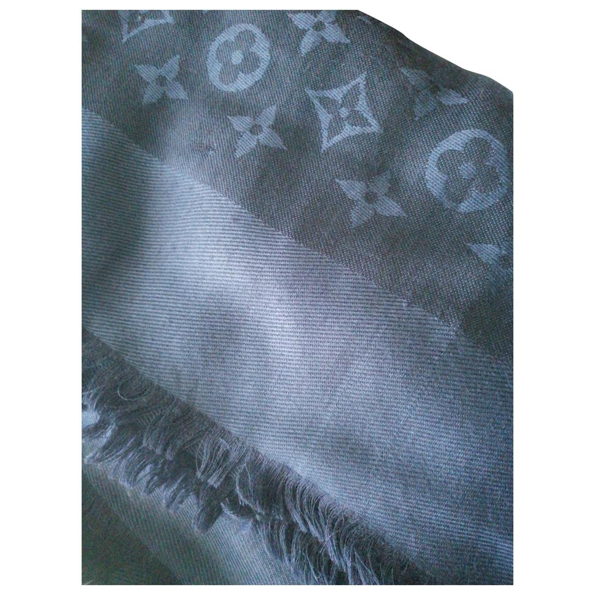 Louis Vuitton Chale Monogram Schal in  Blau Seide