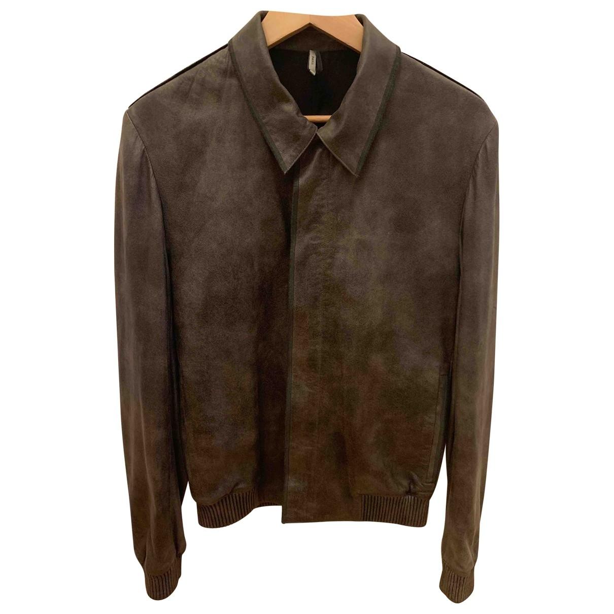 Dior Homme - Vestes.Blousons   pour homme en cuir - anthracite