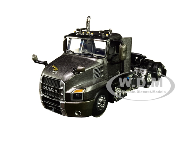 Mack Anthem Day Cab Tractor Truck Graphite Gray 1/64 Diecast Model by First Gear