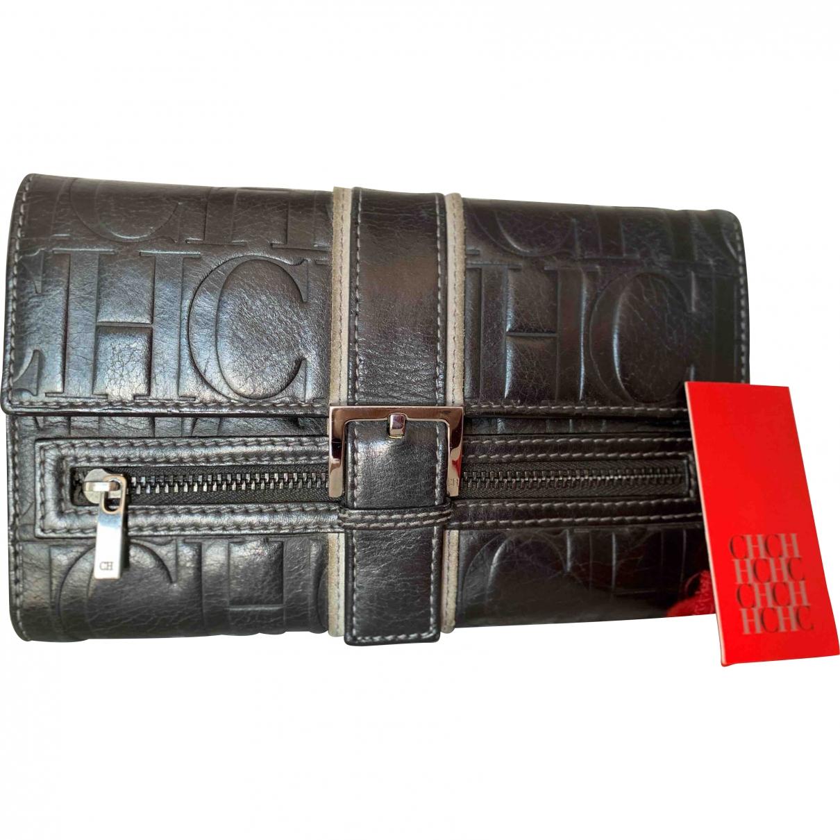 Carolina Herrera N Black Leather wallet for Women N