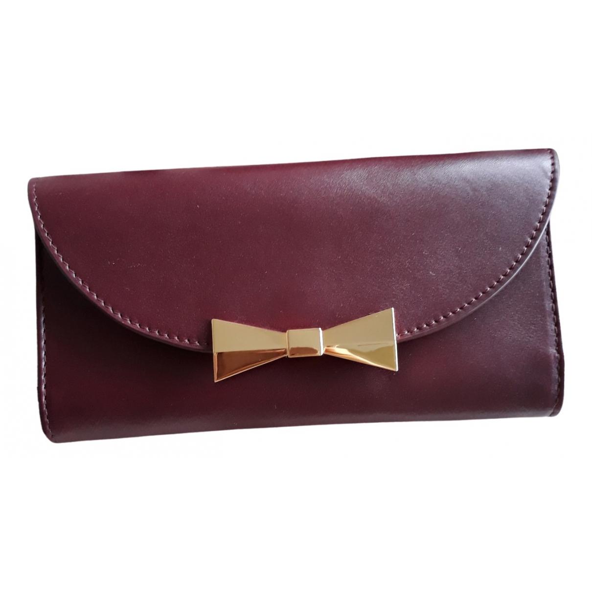 Des Petits Hauts \N Burgundy Leather wallet for Women \N