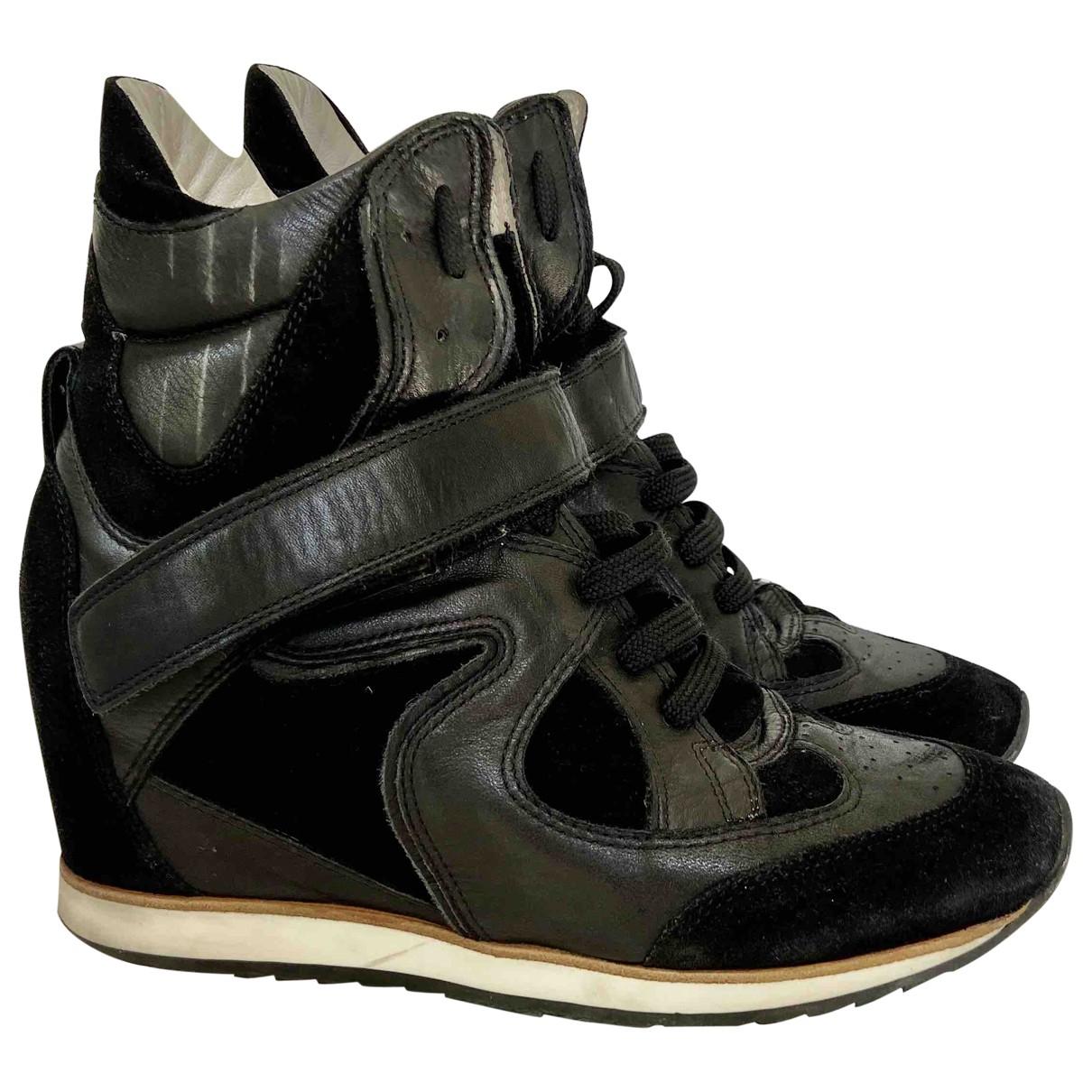 Elena Iachi \N Sneakers in  Schwarz Leder