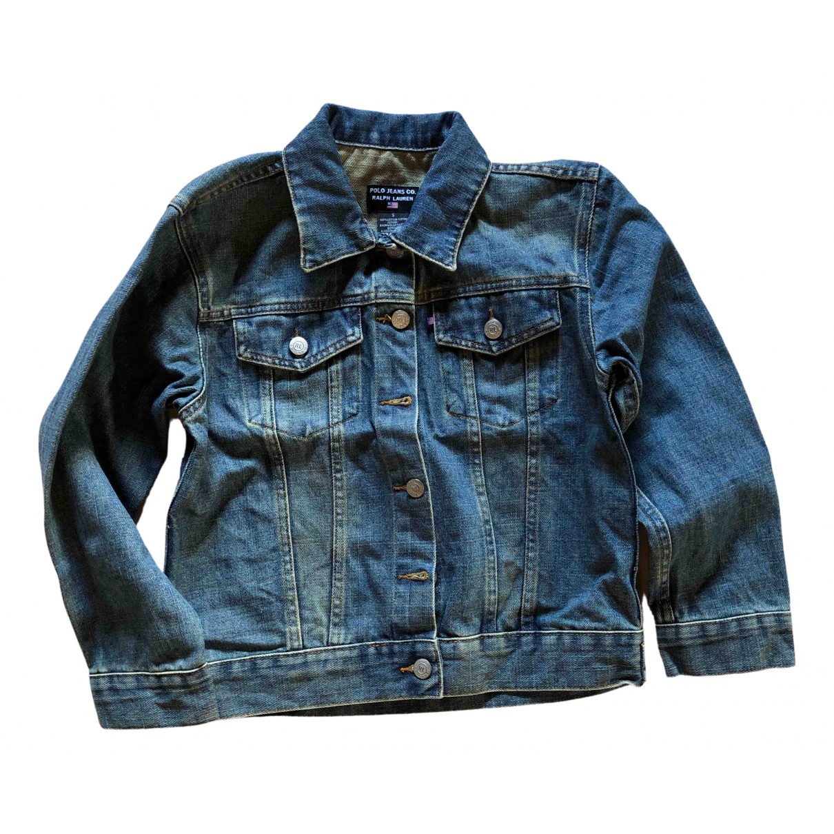 Polo Ralph Lauren \N Lederjacke in  Blau Denim - Jeans