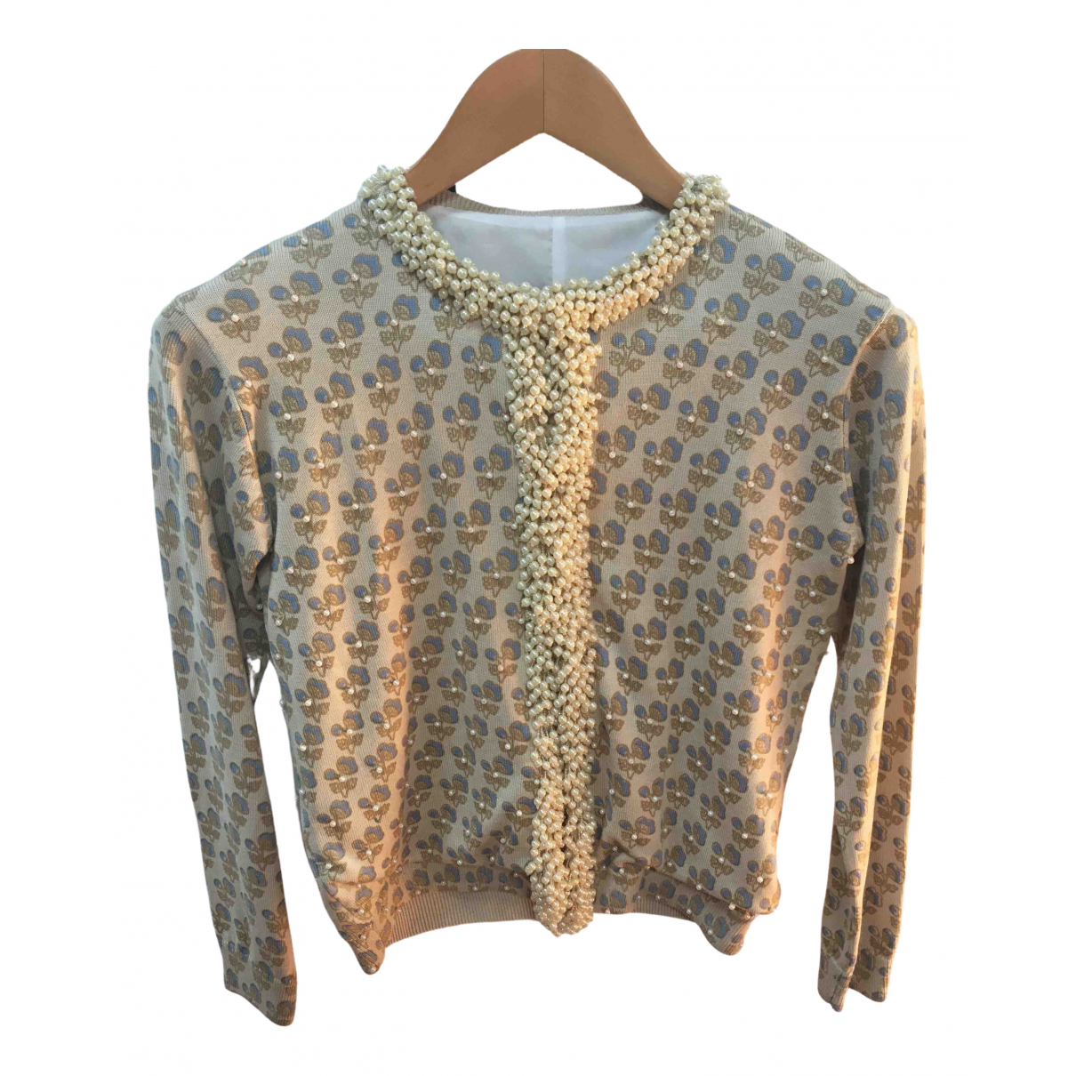 Non Signé / Unsigned N Beige Silk Knitwear for Women 42 IT