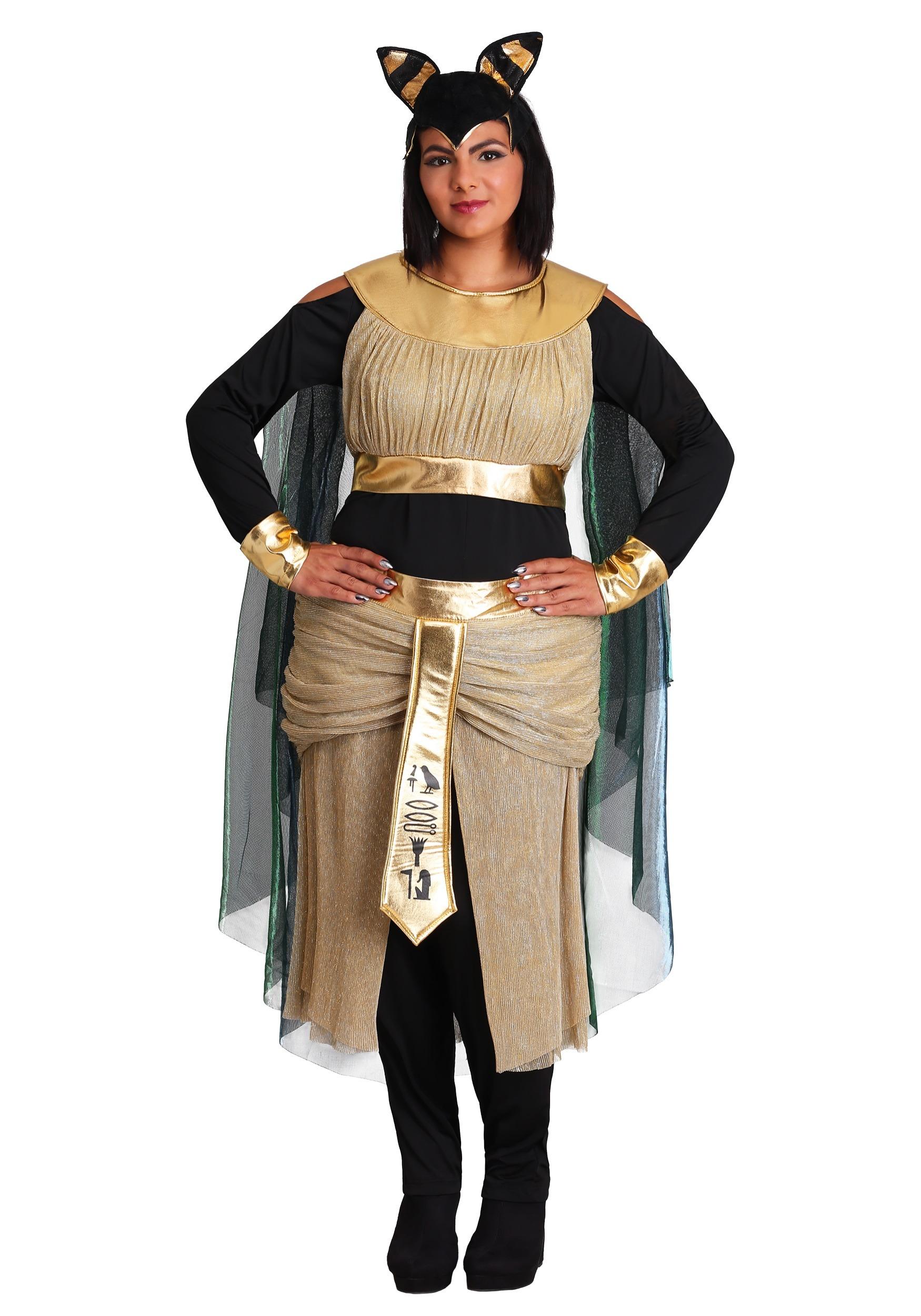 Womens Bastet Goddess Plus Size Costume