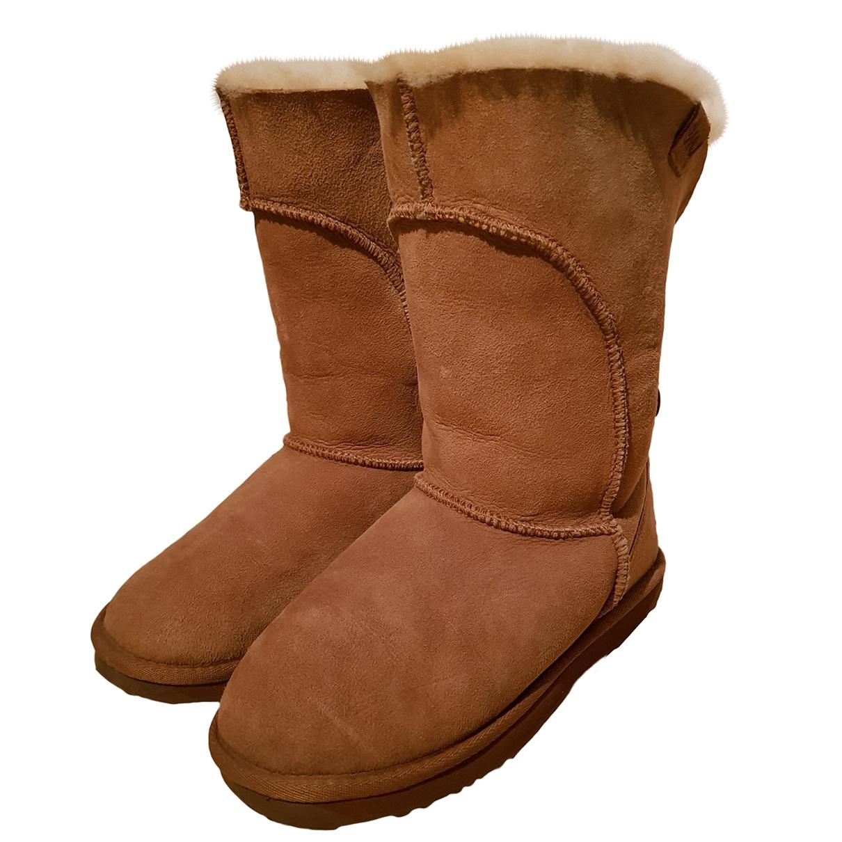 Emu Australia - Boots   pour femme en mouton - beige