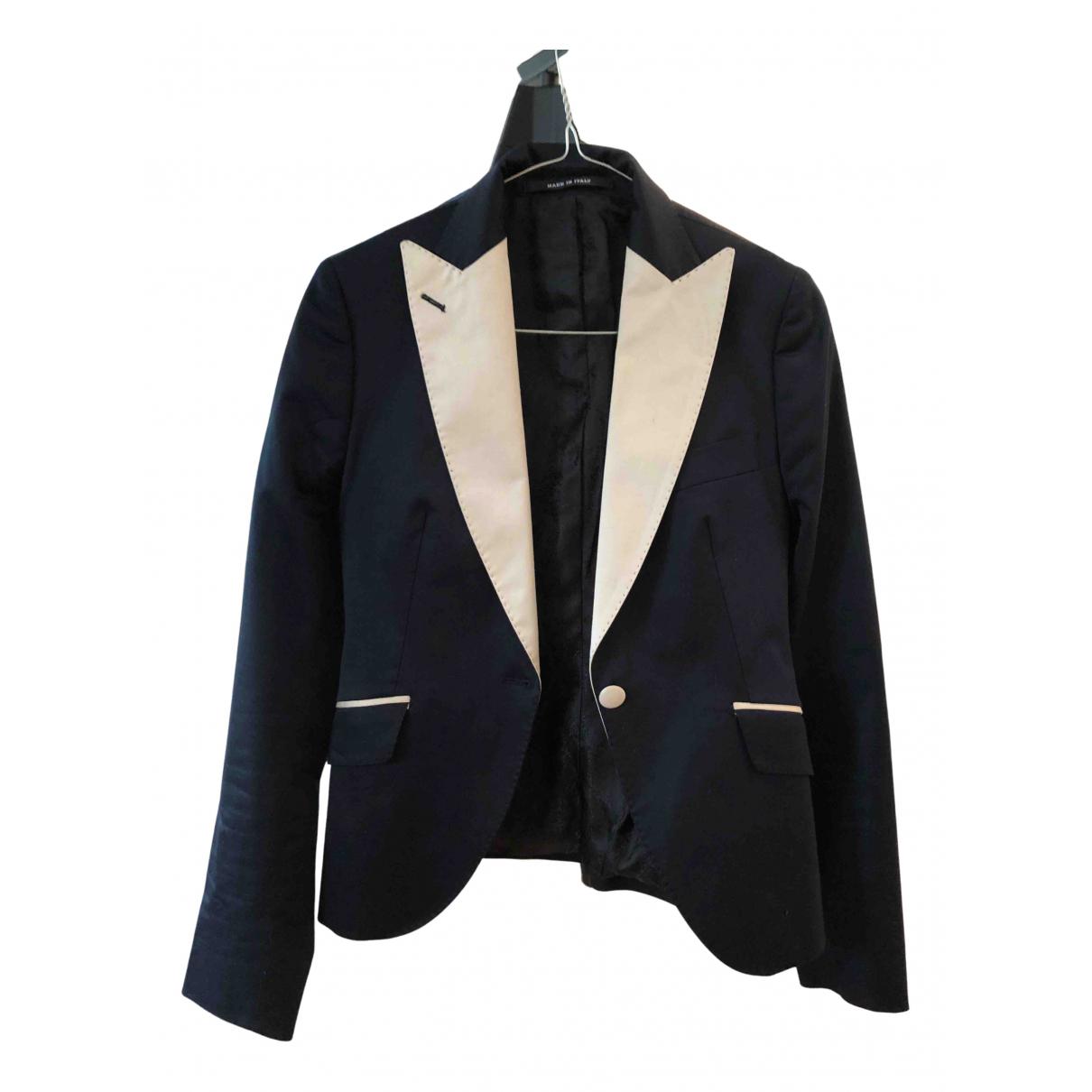 Tagliatore N Blue Cotton jacket for Women 40 IT