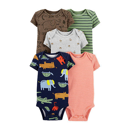 Carter's Little Baby Basic Baby Boys 5-pc. Bodysuit, 9 Months , Multiple Colors
