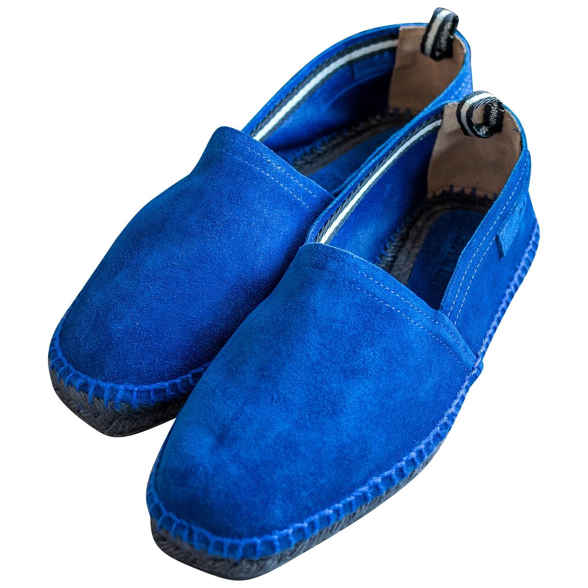 Bally \N Espadrilles in  Blau Veloursleder