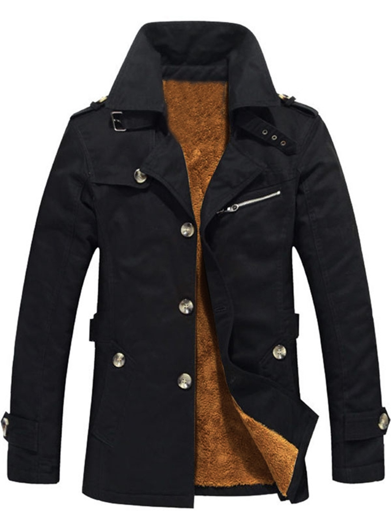 Ericdress Patchwork Slim Thick Single-Breasted Winter Men's Jacket