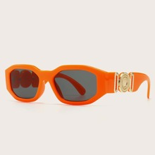 Metal Decor Tinted Lens Sunglasses