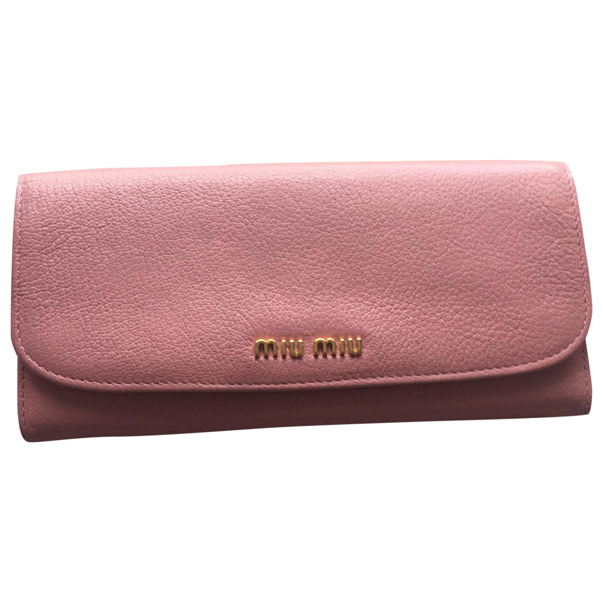 Miu Miu - Portefeuille   pour femme en cuir - rose