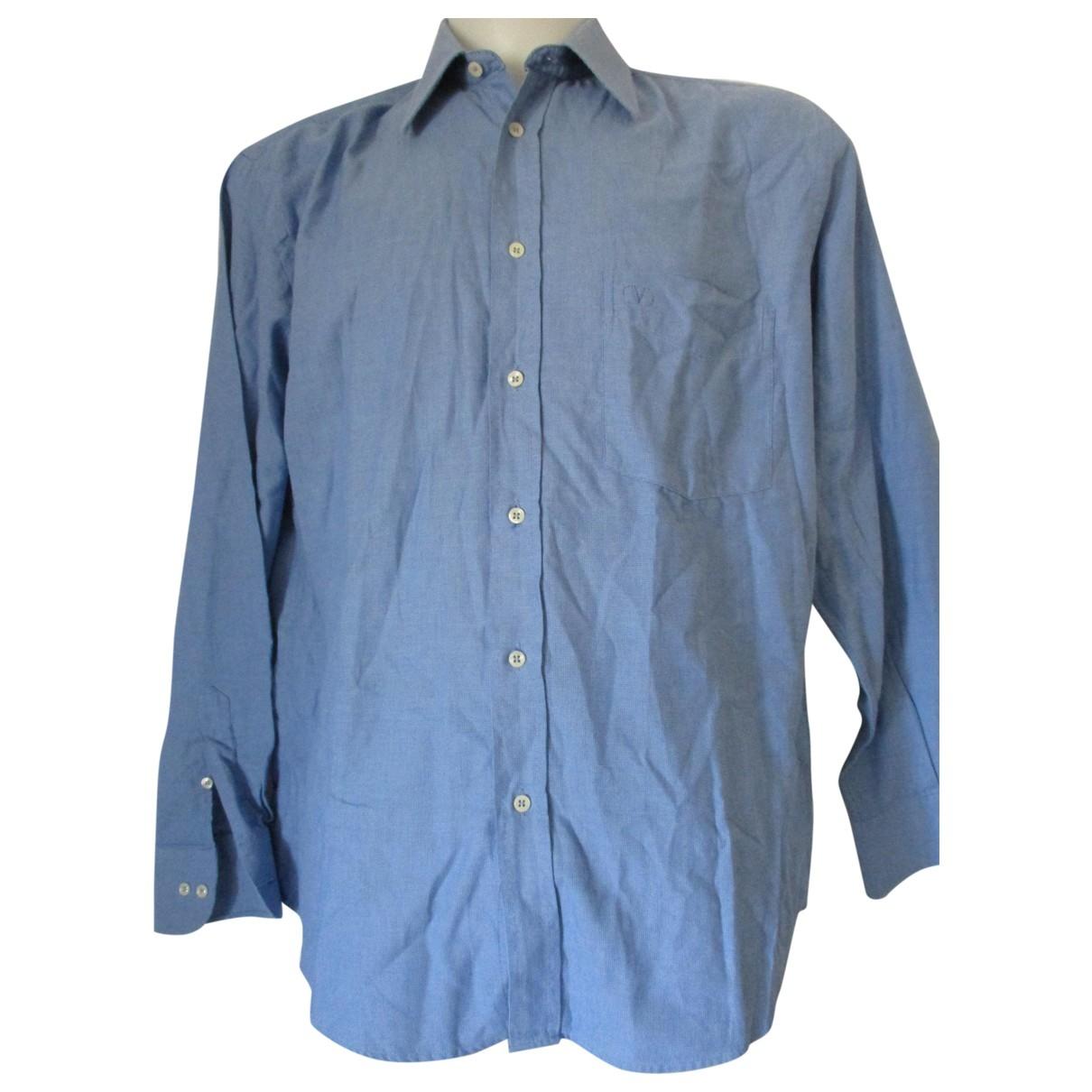 Valentino Garavani \N Blue Cotton Shirts for Men 42 EU (tour de cou / collar)