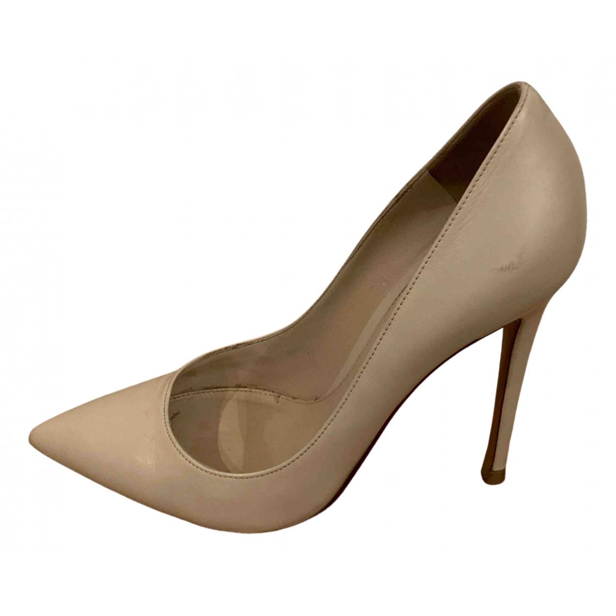 Gianvito Rossi N Beige Leather Heels for Women 36 EU