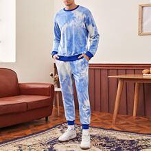 Men Tie Dye Pullover & Joggers Set