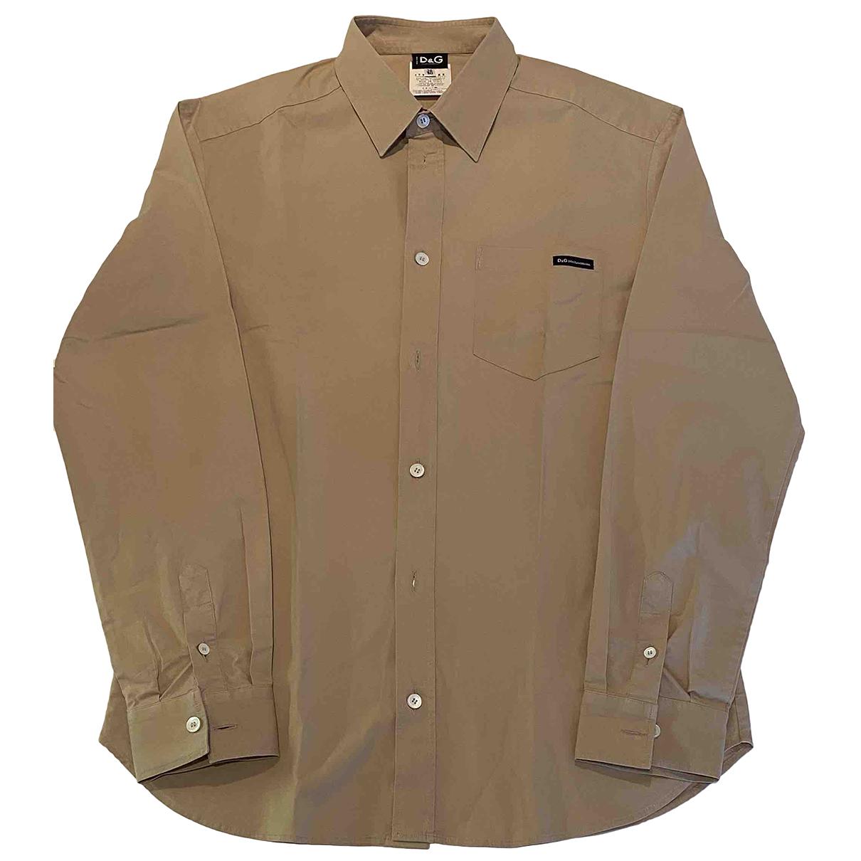 D&g - Chemises   pour homme en coton - beige