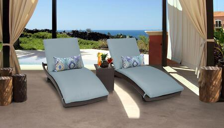 Barbados BARBADOS-CURVED-CHAISE-2x-ST-SPA 3-Piece Patio Set with 2 Curved Chaises and Side Table - Wheat and Spa