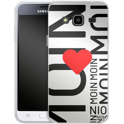 Samsung Galaxy J3 (2016) Silikon Handyhuelle - Moin Moin von caseable Designs