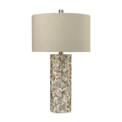 D2608 Herringbone Mother Of Pearl Table Lamp  In