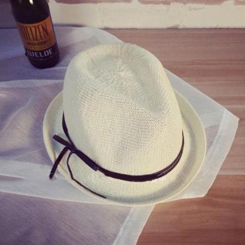 Ericdress Jazz Hat Bowknot Straw Sunhat For Women