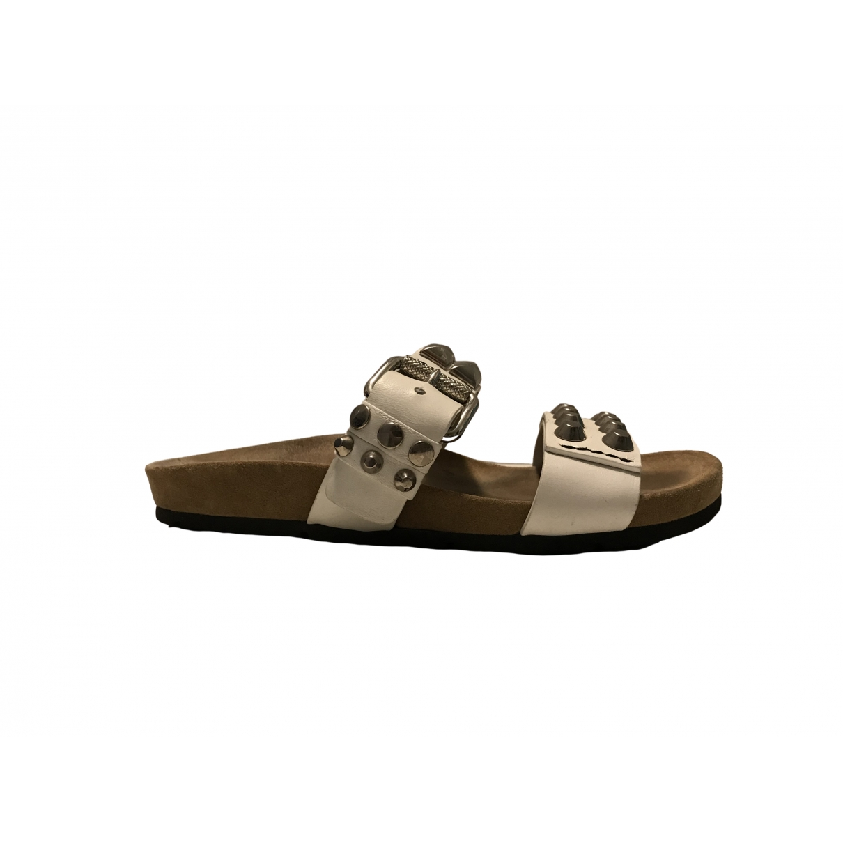 Prada \N White Leather Sandals for Women 36 IT