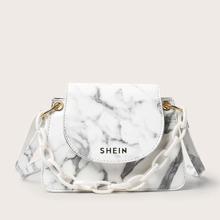 Bolsa cartera con patron de marmol