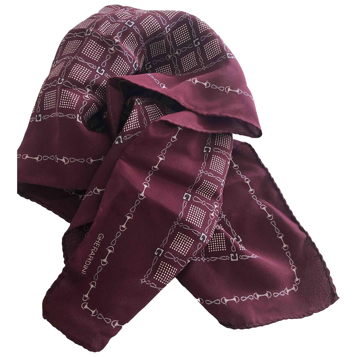 Gherardini - Foulard   pour femme en soie - bordeaux