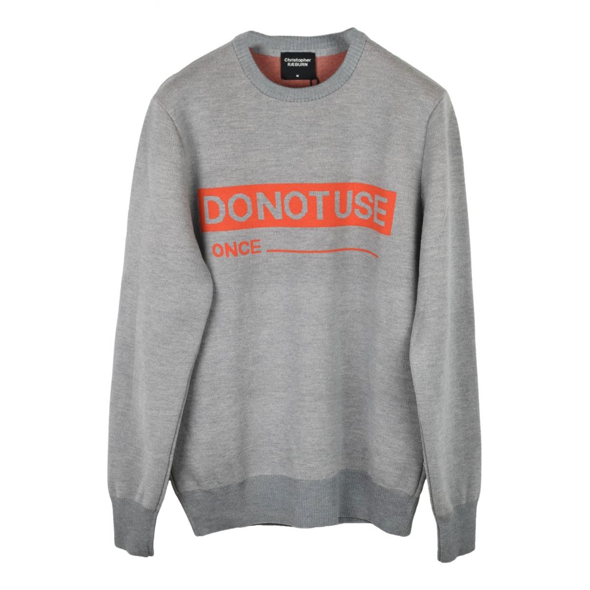 Christopher Raeburn \N Pullover.Westen.Sweatshirts  in  Grau Wolle