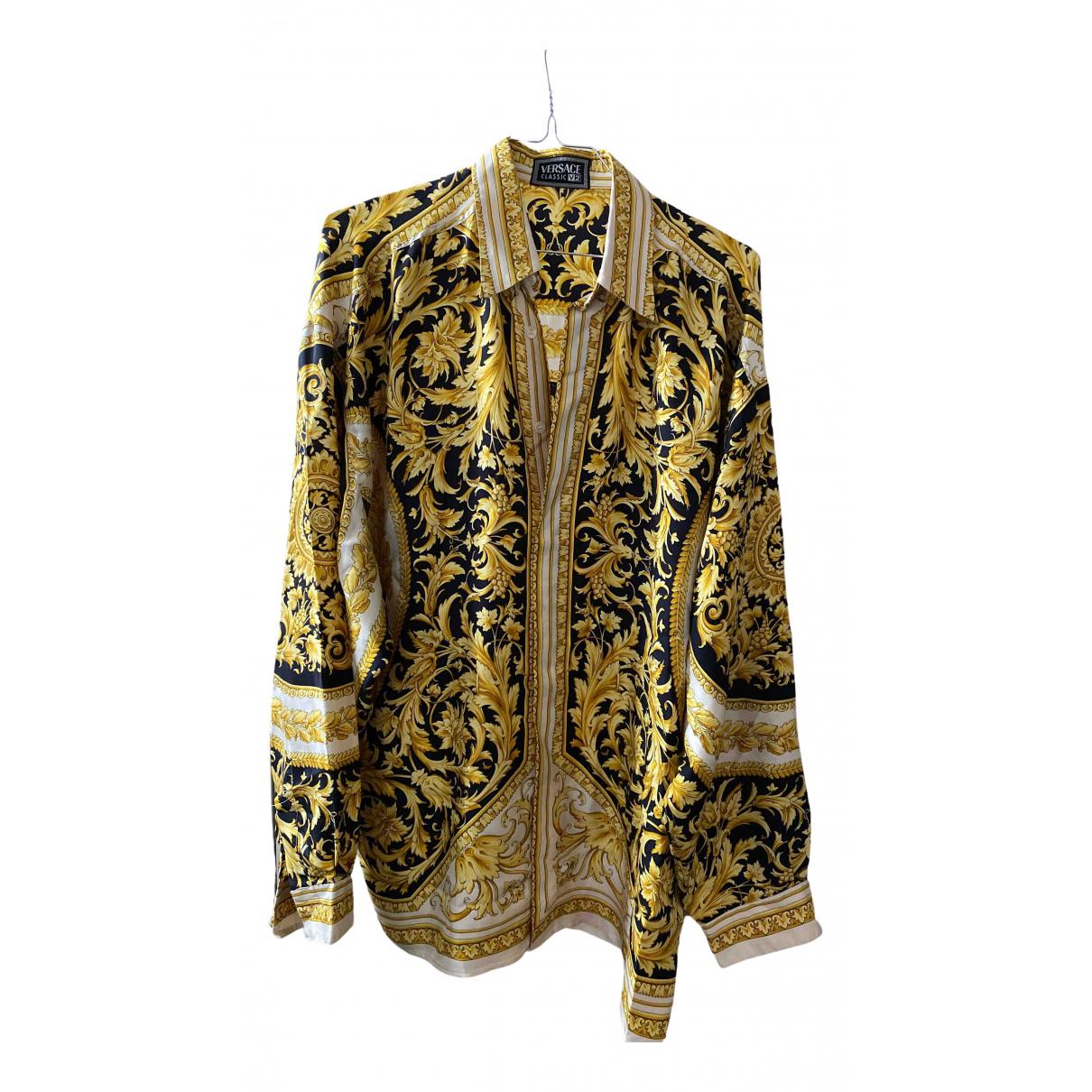 Versace - Chemises   pour homme en soie - blanc