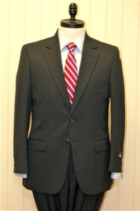 2 Button Big and Tall Size blazer Wool Suit Charcoal