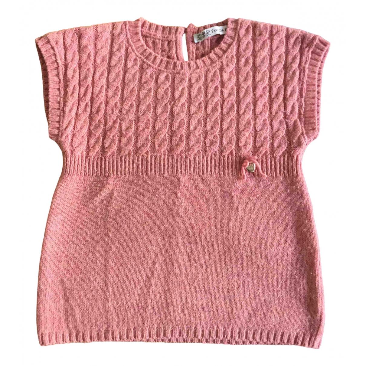 Patrizia Pepe - Pull   pour enfant en laine - rose