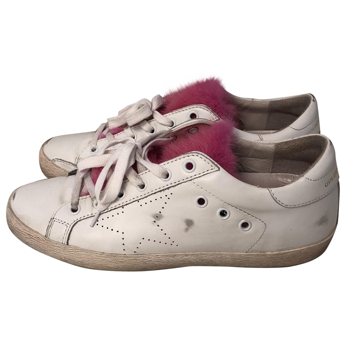 Golden Goose \N White Leather Trainers for Women 39 EU