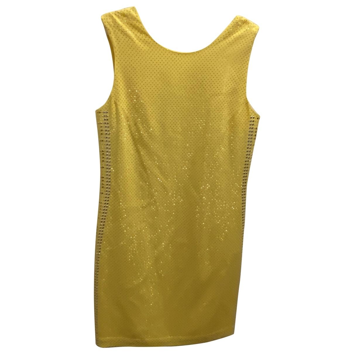 Versace X H&m \N Kleid in  Gelb Baumwolle
