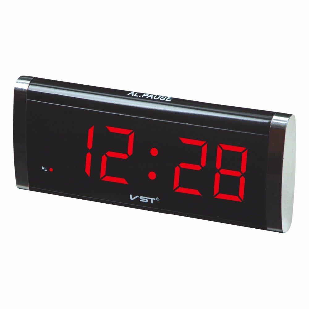 VST730 1.4 Inch LED Table Clock Large Display Clock Desktop Home Decor
