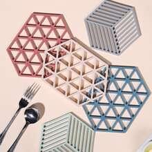 1pc Random Silicone Geometric Coaster