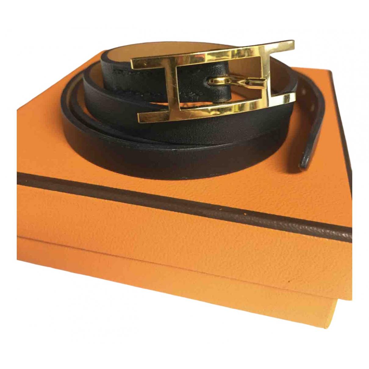 Hermès \N Black Leather bracelet for Women \N