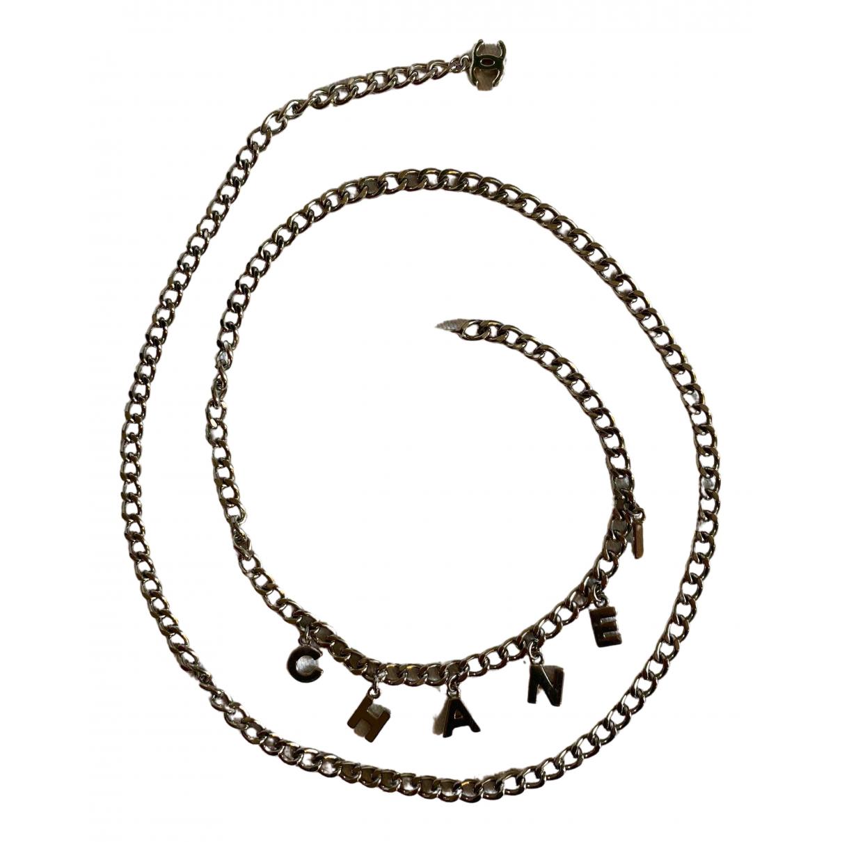 Chanel - Collier CHANEL pour femme en metal - argente