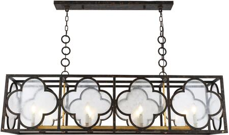 1526G54ACAG 1526 Trinity Collection Chandelier L:54In W:14In H:16.5In Lt:8 Aged Copper&Golden Iron