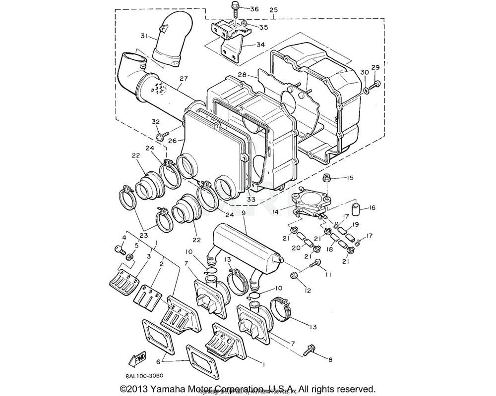 Yamaha OEM 8V0-13555-00-00 MANIFOLD, INTAKE